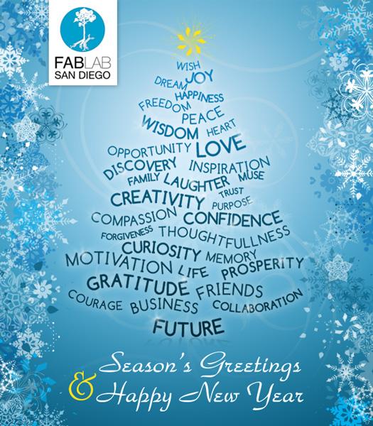 Fab Lab San Diego Holidays Greeting Card 2011